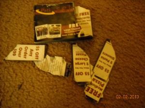 Evidence of restless Chalie's destruction!