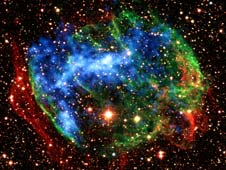 Fossil fireballs in supernovas?  Click on the photo to read NASA's article.